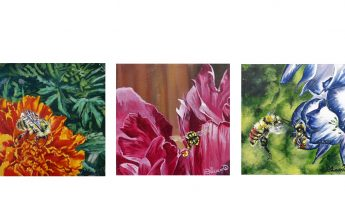 Local Artists' Passion for Bees Showcased on Canvas