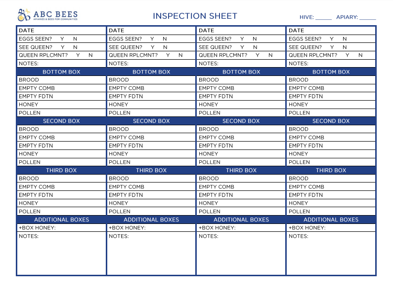INSPECTION SHEET