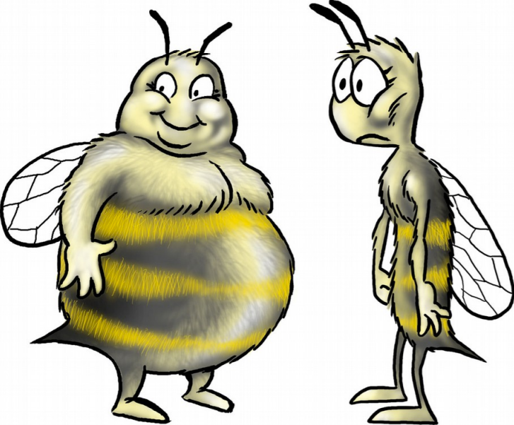 fat bees skinny bees